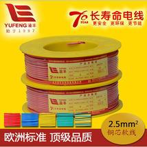 渝丰线缆70年长寿命电线125度 2.5mm2软线