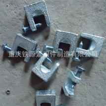 厂家直销 镀锌铸铁 老虎锁 老虎卡 铸铁虎口夹 型号齐全