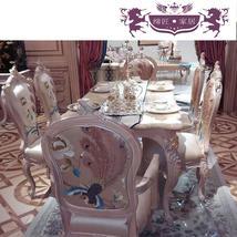 缔匠家居欧式实木餐桌餐凳