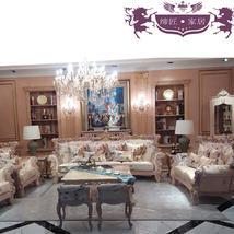 缔匠家居高端欧式沙发组合实木沙发